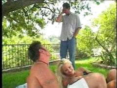 Worthwhile friends having a busty blond picnic