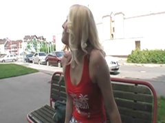 Hawt blonde playgirl fucked in public 4 some bucks and pleasure