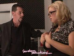 Katie Kox and Jack Vegas lascivious office stuffing