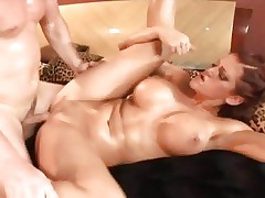 Hottie Eve Lawrence enjoys a rough pussy pounding
