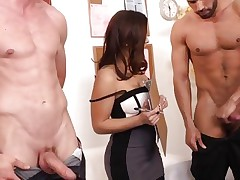 Sizzling Liza Del Sierra has fun with a couple pricks