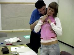 Teacher Shows his Big Cock to a Horny Teen Student