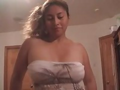 Charming Latin cocksucker is craving for loads of man's cum, getting his hard dick sucked and licked off.