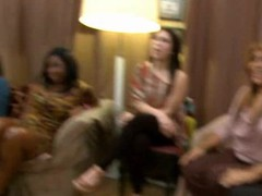 Horny drunk girls letting loose at a party with the dancing bear crew