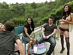 They were sitting on the terrace enjoying the view and the companionship when the hostess came and took them indoors, there things got really interesting as they start with group activity and soon enough they diverged into their own little groups each of them seek their own preference and pleasures