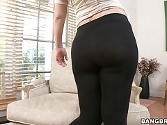 Madison Rose has a nice and attractive body. Here this babe is stripteasing in front of her man to make his dick hard. Then she is going to show her real talent of sucking. She is licking his balls and gives him a hell of a mouthful blowjob. She also pleases him with a hand job.