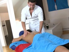 Cute twink gets a lusty massage from gracious gay dude