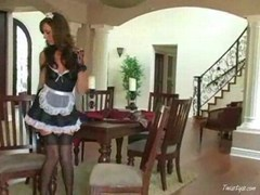 Tiffany is a slutty maid 1