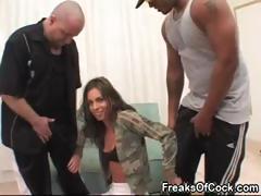 Sexy pornstar Naomi Russell loves big black cocks and huge dildos