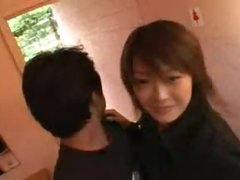 Getting frisky with hot Japanese sweetheart