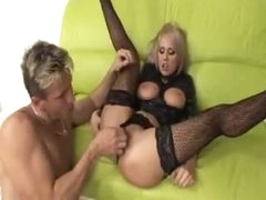 Sexy cock whore in black latex suck and fuck