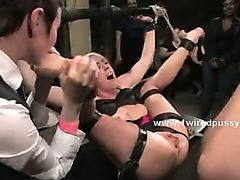 Lezdom fuckfest welcomes kinky and nasty lesbian sluts to live their fantasies with cute chick tied